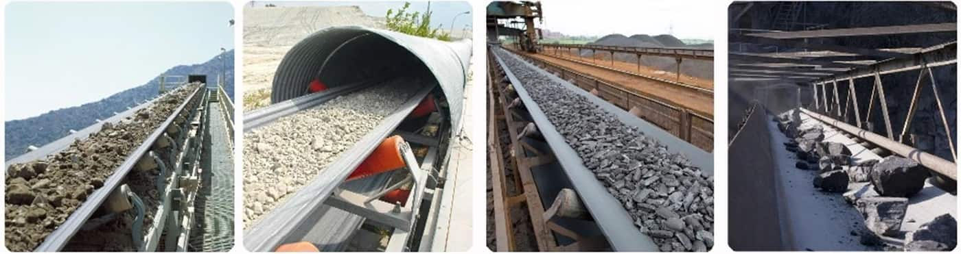 CR fire resistant conveyor belt for cement plant