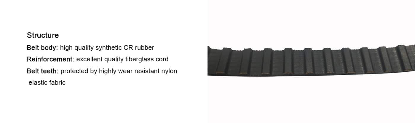 Timing belt industrial price rubber timing belt