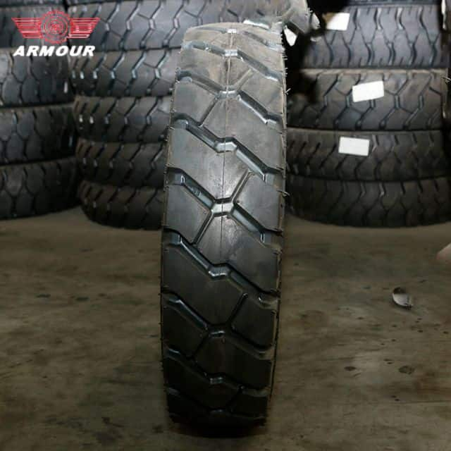 Armour forklift tyres 5.00-8TT with deepened block pattern 11mm for sale