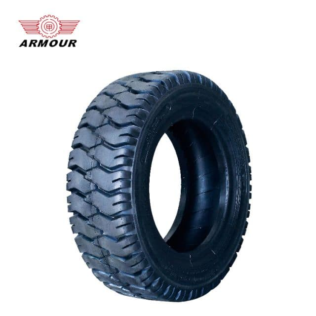 Forklift tyre 12PLY 14mm tread depth 190mm width Armour tire for industrial sale