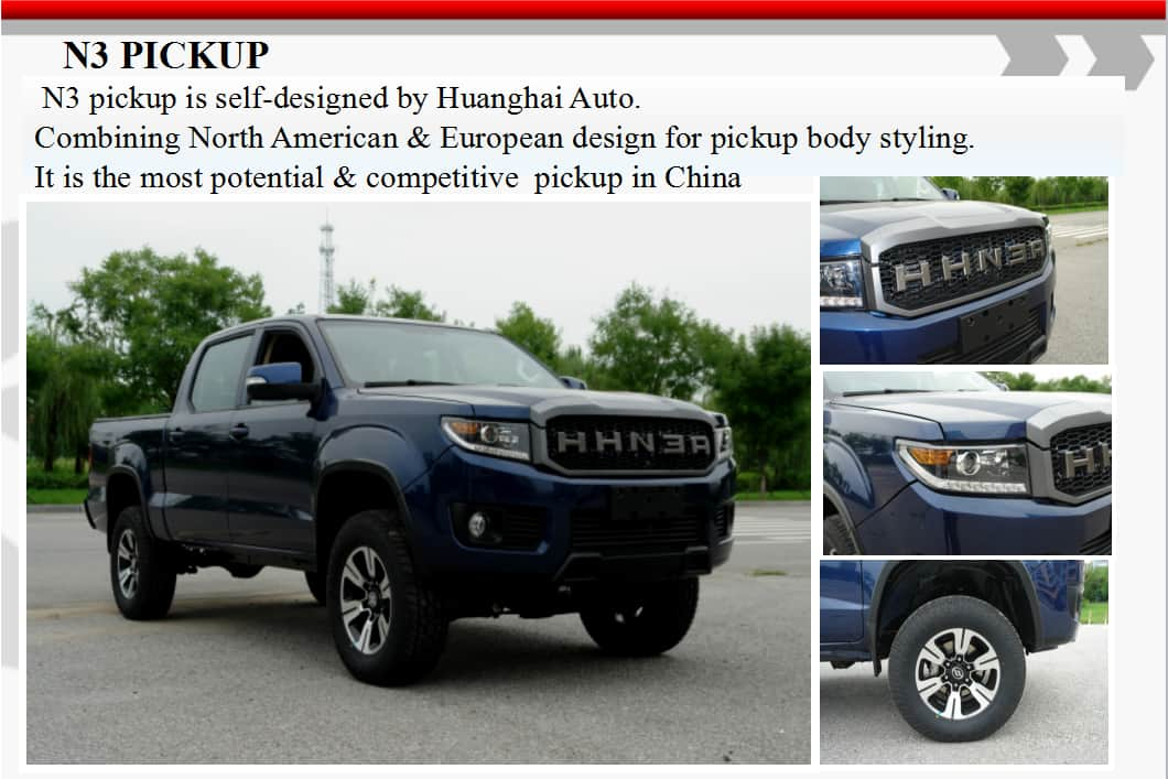 Huanghai Pick Up N3-S19 4WD AT Gasoline 4K2T Luxury