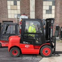 Zhongli EP electric counterbalance forklift EFL352 80V battery for sale