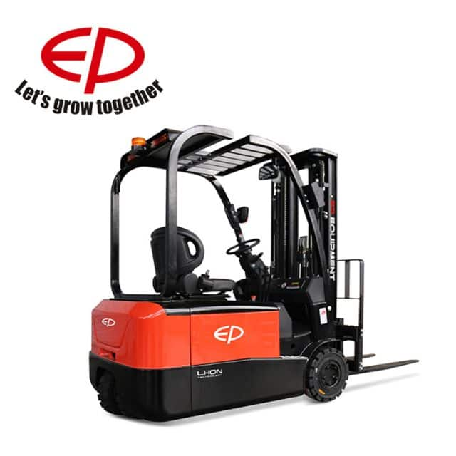 China brand EP 3 wheel lithium forklift CPD18TV8 1.8 ton 4m mast height for sale