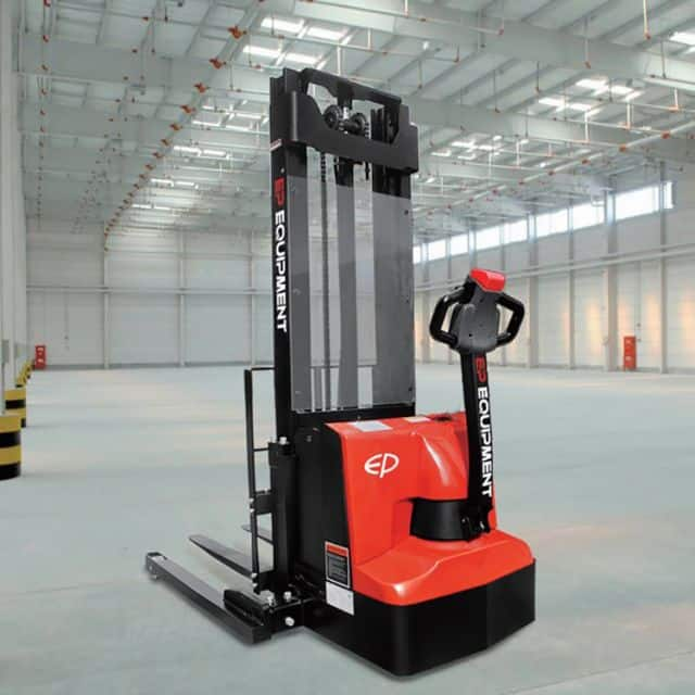 EP electric stacker 1.2 ton 3m lift height straddle stacker use for warehouse price