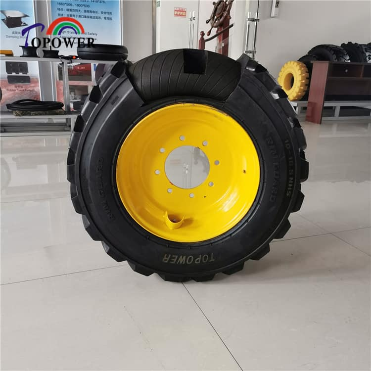 forklift solid rubber tire with rim 6.00-9 7.50-20 8.25-15  300-15