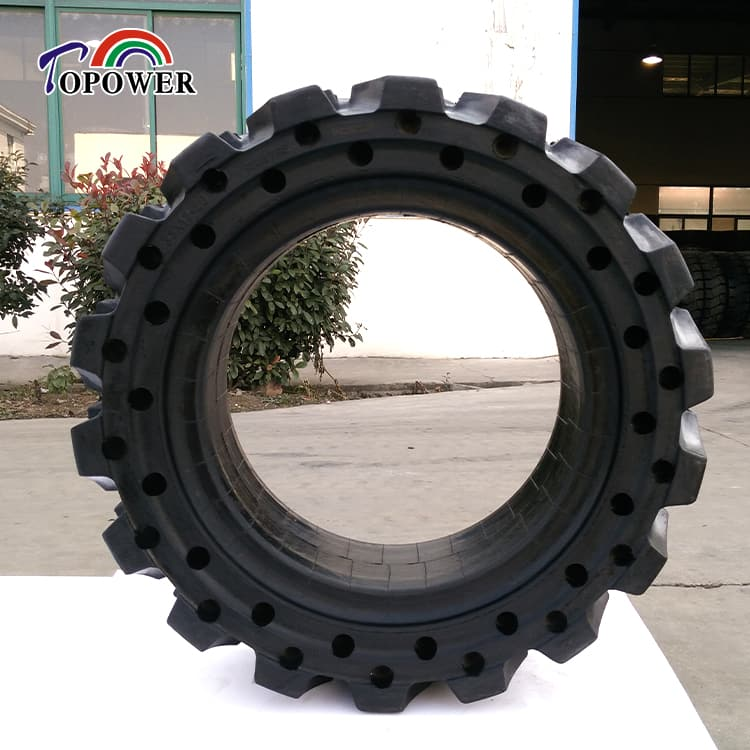boom lift skid steer loader solid rubber tire 10x16.5 12x16.5 14-17.5