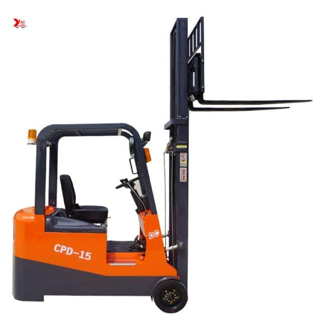 China YANCHA 3 wheel electric forklift 1.5 ton with CE certification for sale