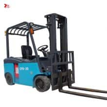 China YANCHA electric forklift 2 ton with four large wheel counterbalance price