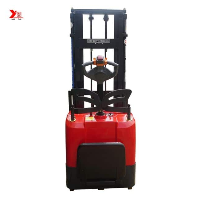 China YANCHA 1.5 ton stacker lift 3m for warehouse 2350mm door frame height price