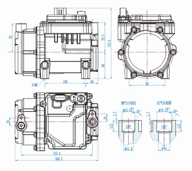 Electric scroll compressor-BET27B