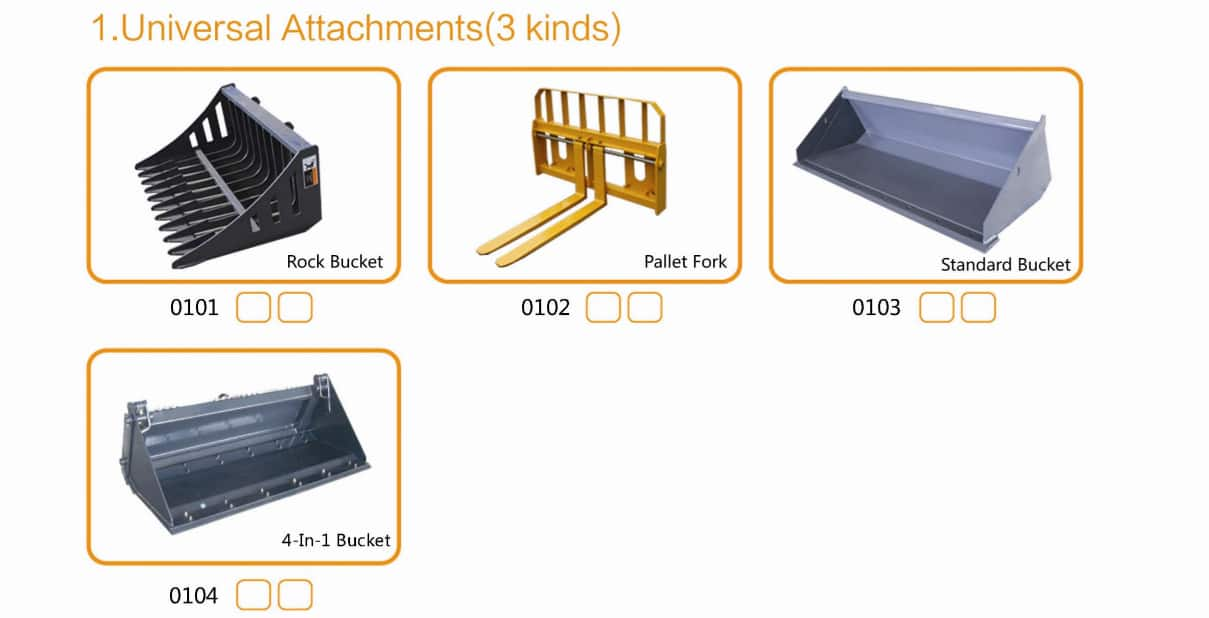 HCN Skid steer Loader Attachments Universal Attachments Municipal Attachments