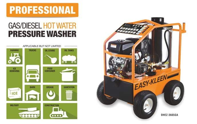 Professional Gas/Diesel Hot Water Pressure Washer DHEZ-3605
