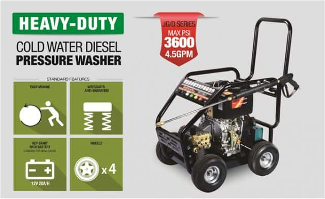 D Series Heavy-Duty Cold Water Diesel Pressure Washer