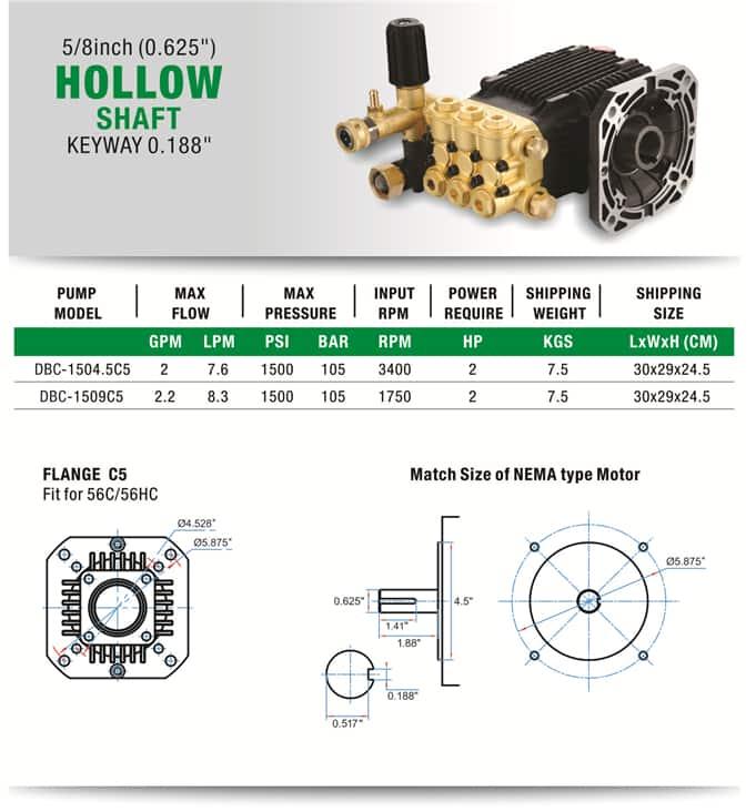 Commercial High Pressure Pump Nema Type Motor Direct Drive