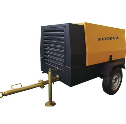 Windbell WGD diesel portable screw air compressor
